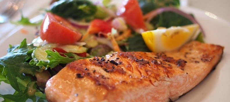 Recipe for Grilled salmon with mustard and herbs